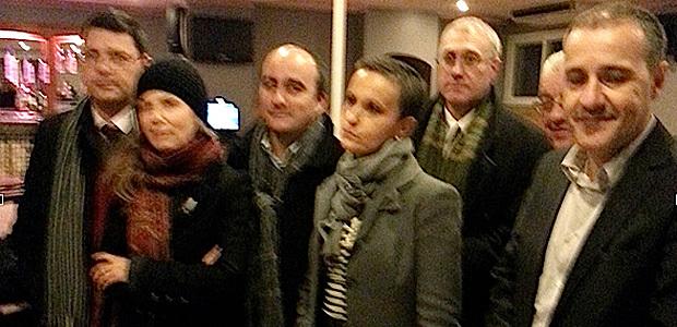 Jean-Guy Talamoni, entouré des membres du jury