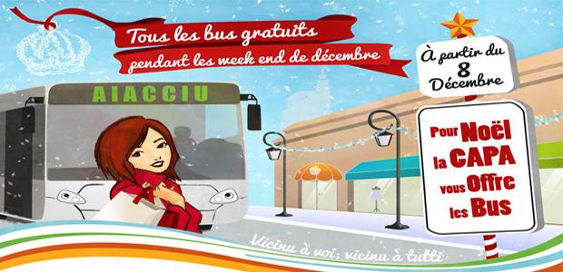 Ajaccio : Tous les bus de la Capa gratuits durant trois week-end