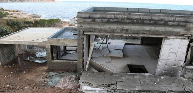 Une villa en construction visée à Calvi