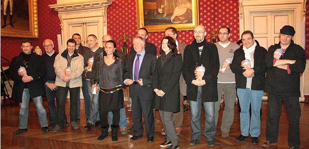 Les lauréats ont reçu leurs prix lors d'une cérémonie organisée samedi soir à la mairie d'Ajaccio en présence du maire Simon Renucci et de nombreux officiels. (Photo Marilyne Santi)