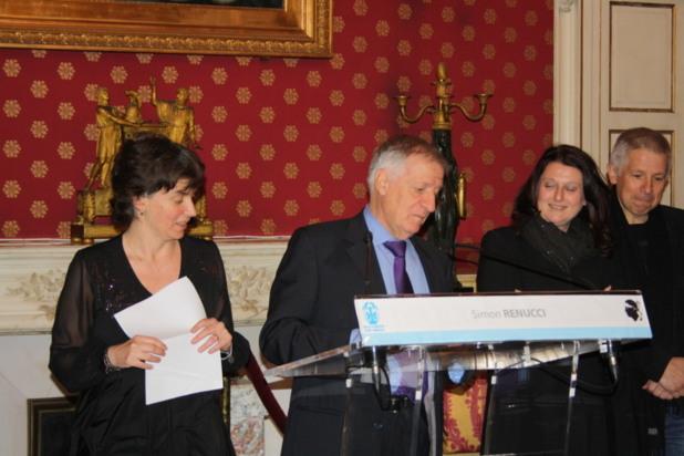« Ce festival fête aujourd'hui ses 10 ans et il est le fruit d'un travail pour que ce que l'on appelle le 9è Art s'installe durablement en Corse » a affirmé le maire d'Ajaccio Simon Renucci lors de son discours. (Photo Marilyne Santi)