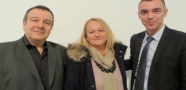 Jean-François Cesarini et Pierre Magny en compagnie de Marie-Gabrielle Castagnoli