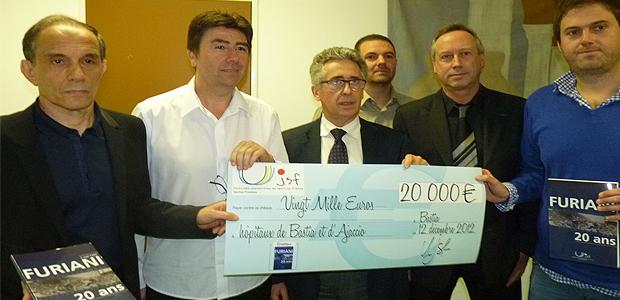 """"""" Furiani 20 ans """" : 20 000 € pour les hôpitaux de Bastia et d'Ajaccio"""