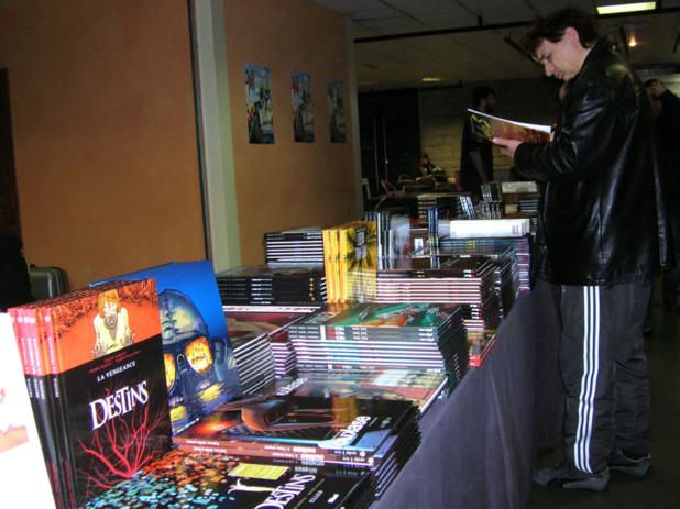 Une pleiade de bandes dessinées et des dizaines d'auteurs ont constitué le cadre de ce festival de la BD d'Ajaccio. (Photo: Yannis-Christophe Garcia)