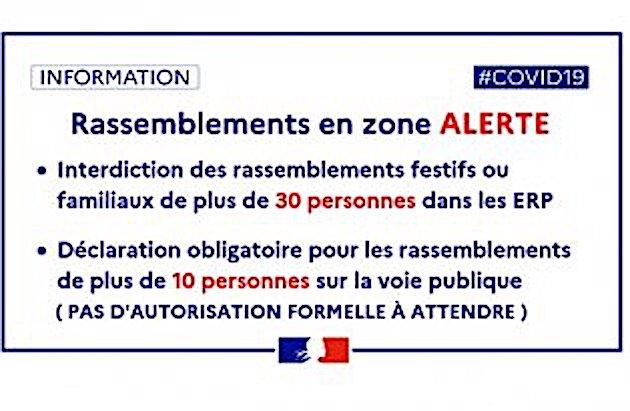 Covid-19 : interdiction des rassemblements de plus de 30 personnes dans les ERP de Haute-Corse