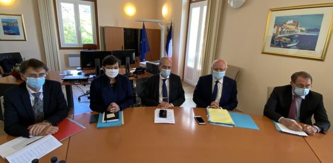 Bruno Lastre, vice-président du Conseil d'Etat en visite au Tribunal administratif de Bastia.