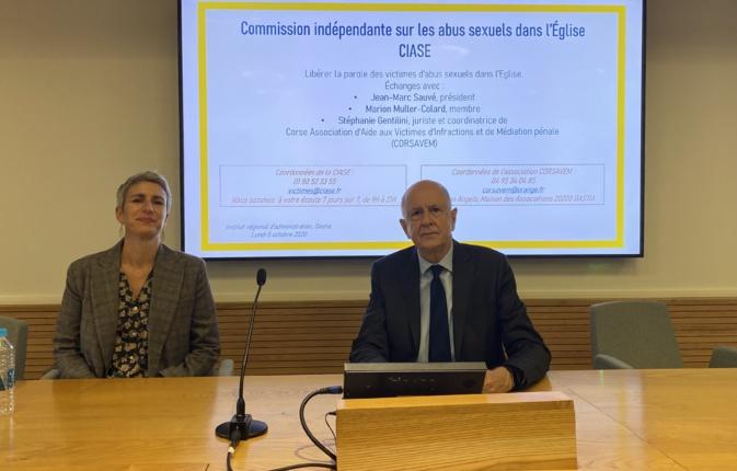 Jean-Marc Sauvé, président de la CIASE et  Marion Muller-Colard.