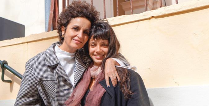 Muriel Combeau et Noée Abita, ce soir au Théâtre de Bastia pour Slalom ©LH