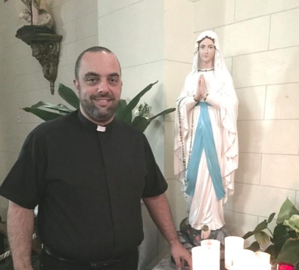 Le Père Georges Nicoli prépare d'ores et déjà la neuvaine de ND de Lourdes