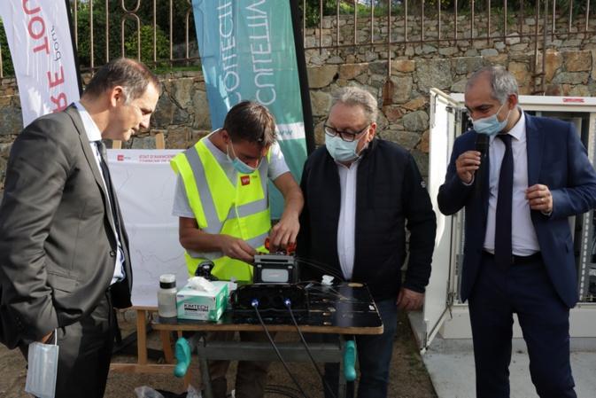 Déploiement de la Fibre optique : Inauguration connectée à Santa Riparata di Balagna