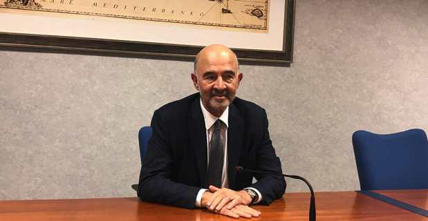 Pierre Moscovici, premier président de la Cour des comptes, en visite en Corse à la Chambre régionale des comptes de Bastia.