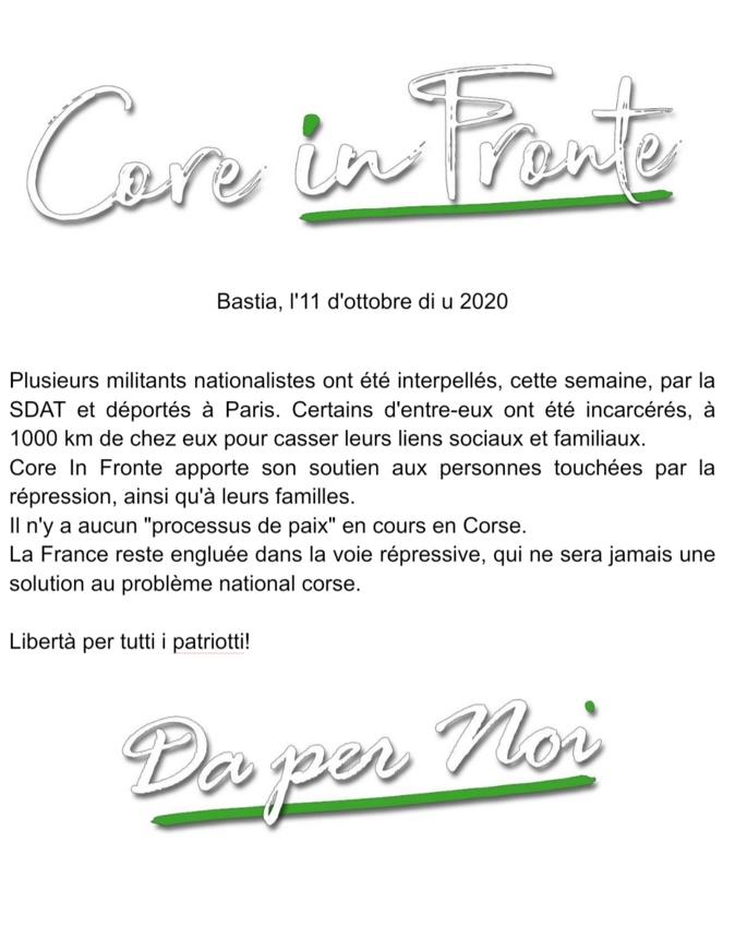 Tirs contre la gendarmerie à Bastia. Vives réactions en Corse après la vague d'interpellations et incarcérations