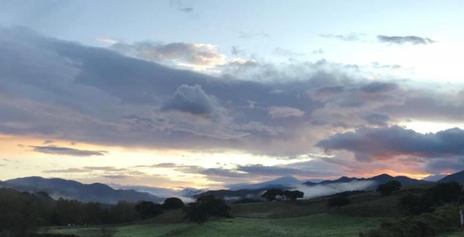 Lever de soleil sur la Madunina à Sartene