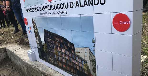 Le projet de la future résidence étudiante Sambucucciu d'Alandu sur l'ancien site du dispensaire de Corti.