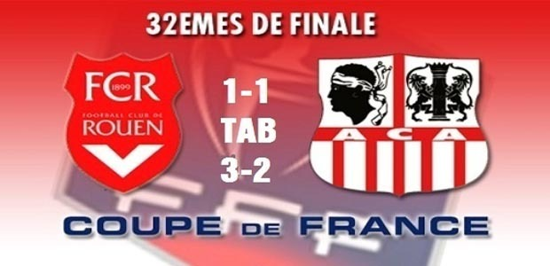 Coupe de France : L'ACA encore à la trappe!