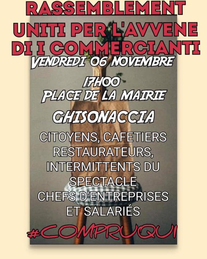 Confinement : L'association des commerçants de Ghisonaccia appelle au rassemblement
