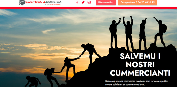"""""""Sustegnu Corsica"""" : une nouvelle plateforme web pour aider les commerçants corses"""