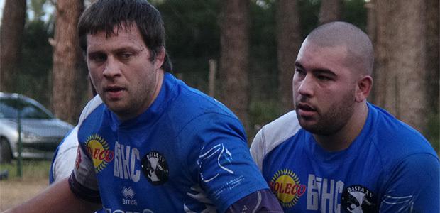 Julien Morelli (à gauche) avec Gilles Marcelli : La belle seconde ligne bastiaise