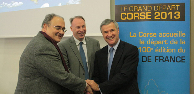 Paul Giacobbi,Gilles Queneherve, Patrick Strzoda, (Photo Marilyne SANTI)