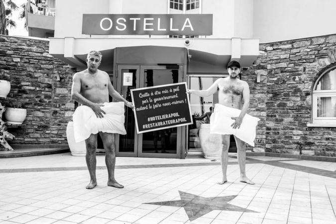 PHOTOS - Artisans et commerçants corses posent nus pour dénoncer la fermeture de leurs établissements