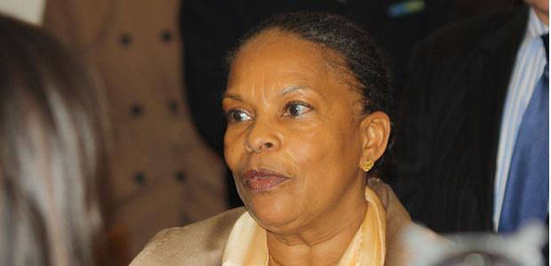 La ministre de la Justice Christiane Taubira en déplacement à Ajaccio n'a pas annoncé de mesures concrètes sur les principaux dossiers en cours. (Photos Marilyne Santi)