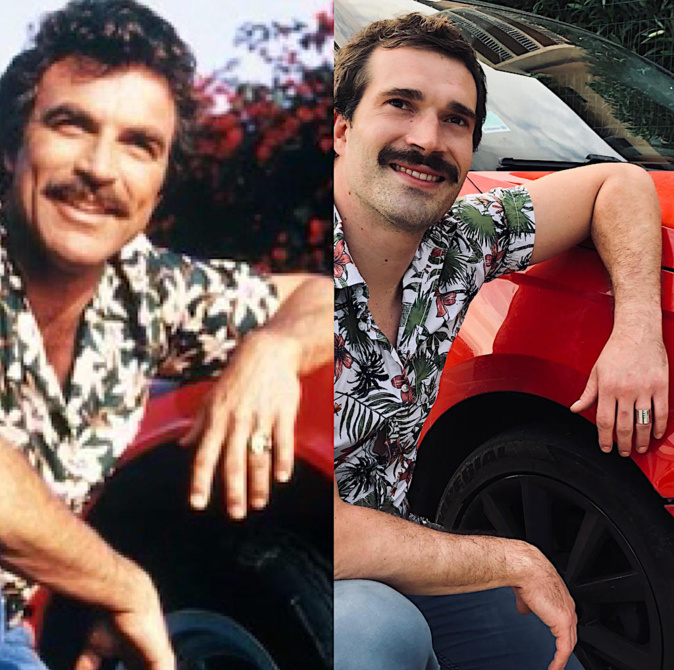 Comme Tom Selleck