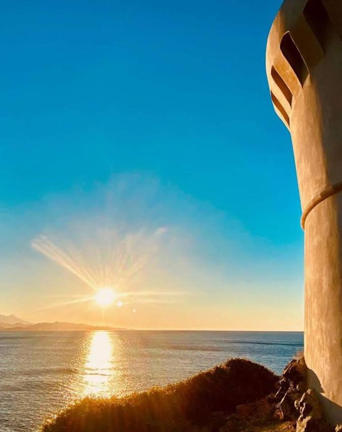 U tramontu vistu da i pedi di a torre d'Albu (Photo François Gaggeri)