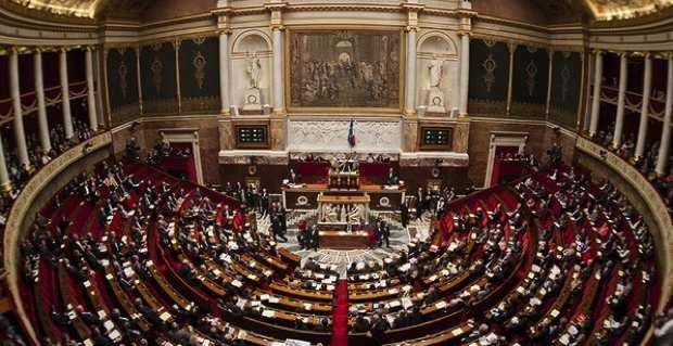 L'hémicycle de l'Assemblée nationale.