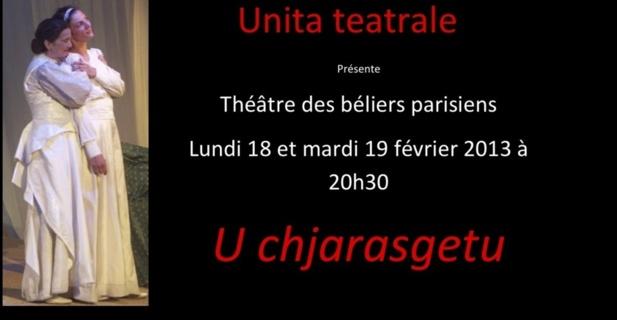 """""""U Chjarasgetu"""" au """"Théâtre des Béliers parisiens"""""""