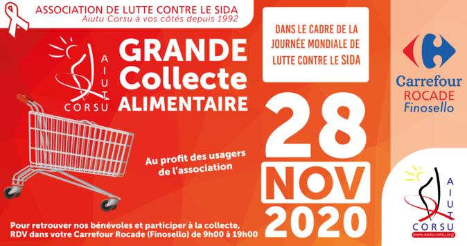 A Ajaccio l'association Aiutu Corsu organise une collecte pour la Journée Mondiale de lutte contre le Sida