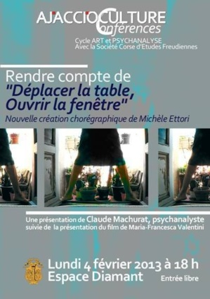 Ajaccio mich le ettori pr sente d placer la table for Ouvrir la fenetre