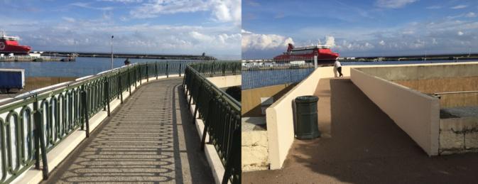 Les deux passerelles reliant la place St Nicolas au Quai des Martyrs vont être élargies.