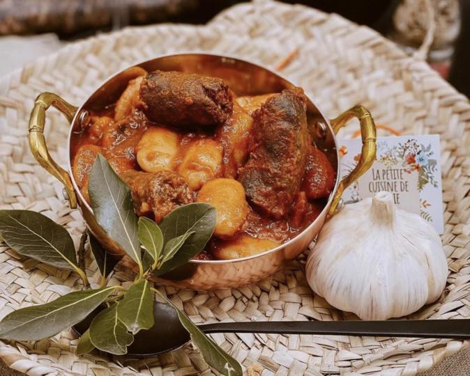 A table : haricots blancs au figatellu avec la... petite cuisine de Marie