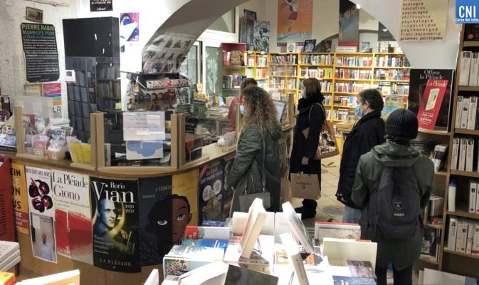 """La librairie """"La Marge"""" à Ajaccio. Photo Michel Luccioni"""