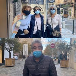 Régine, Janine et Angèle âgées de 74, 75 et 76 ans et Jean-Pierre, 79 ans.