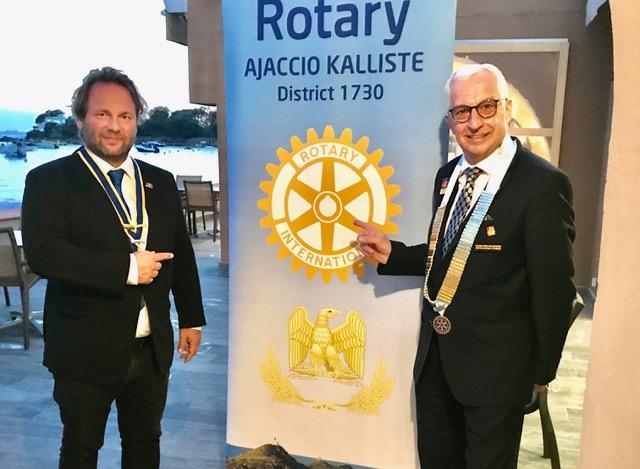 Jean Stephane Silvy et Philippe Raffin lors de sa venue à Ajaccio en septembre dernier.