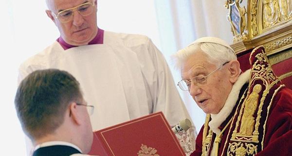 Le souverain Pontife a annoncé lors d'un consistoire qu'il quitterait son ministère le 28 février prochain. (Photo : DR Osservatore Romano/AFP)