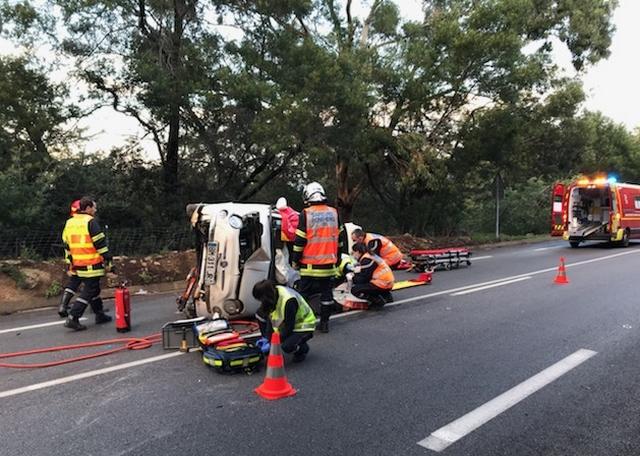 Une automobiliste gravement blessée à Lumiu