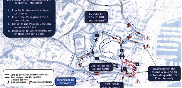 Quartier St Jean nouveau plan de circulation