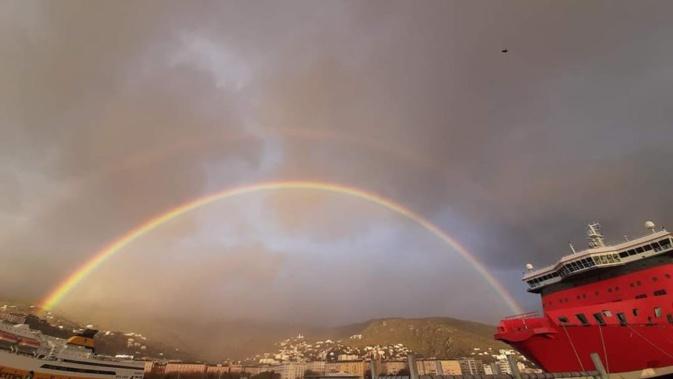 La photo du jour : l'arc-en-ciel bastiais, comme un trait d'union…