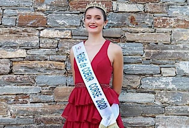 Célia Floret lors de son élection comme Reine de cœur Corse le 5 septembre dernier à Monte. Elle représentera l'île de beauté le 6 février 2021 à Montpellier lors de l'élection de la Reine de cœur France.