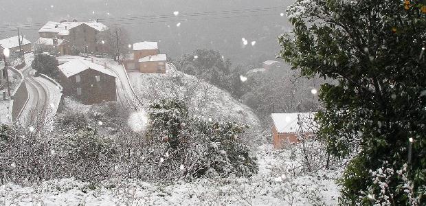 Météo :  Episode neigeux en Corse-du-Sud