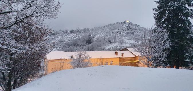Corscia sous la neige