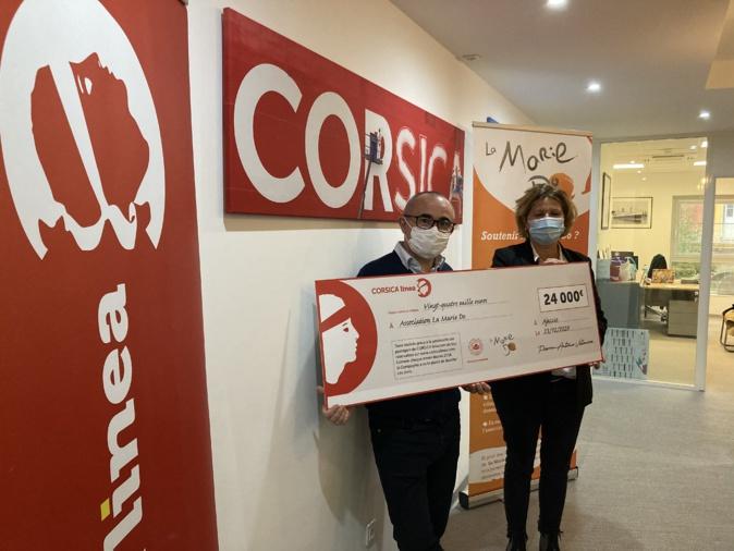 Le directeur de la Corsica Linea Pierre-Antoine Villanova et la présidente de la Marie-Do Catherine Riera.