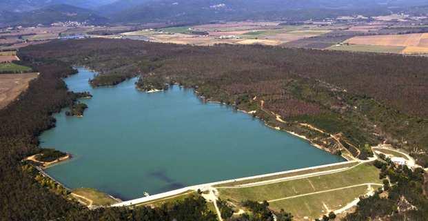 Le barrage d'Alzitone. Photo OEHC.