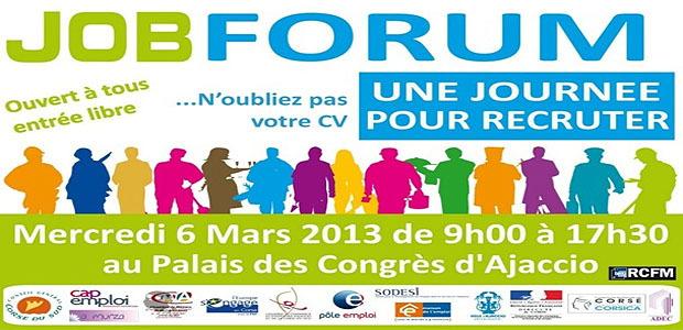Job Forum le 6 mars 2013