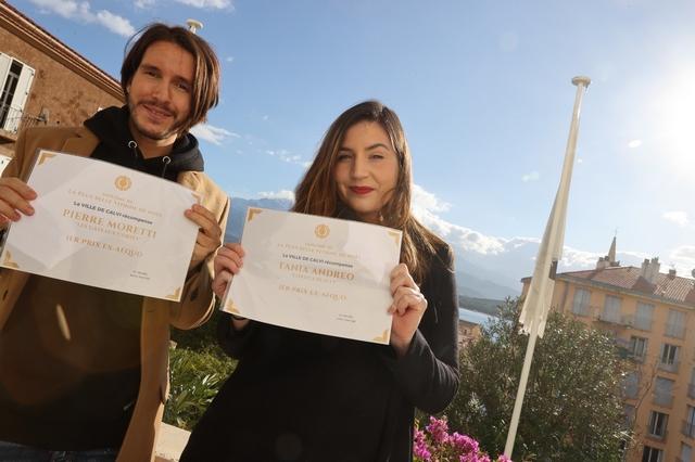 Deux lauréats au concours de vitrines de Calvi