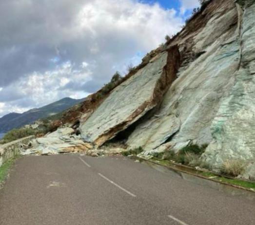 Canari : la route départementale 80 fermée pour travaux après un éboulement