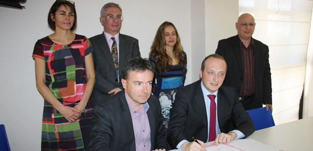 Les représentants du CG2A et du CSJC / Photo Marilyne SANTI