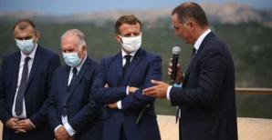 Le président Macron à Bunifaziu en septembre 2020. Photo Michel Luccioni.